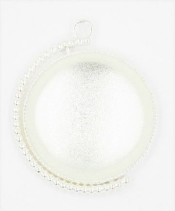 Double sided swivel pendant cabouchon
